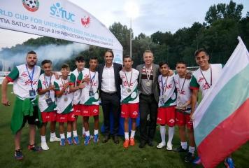 България завърши трета на  Световната купа по футбол SATUC